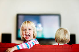 картинка дети и телевизор