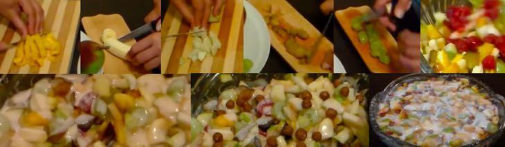 фруктовый салат с хлопьями